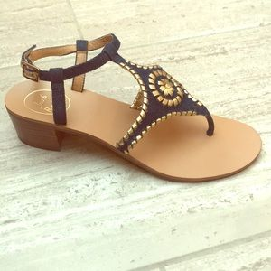 Jack Rogers Sandals with Heel and Ankle Strap